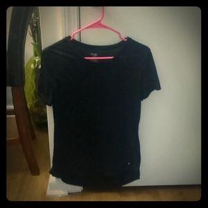 See through black T-shirt
